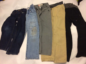 5 Pairs of boys pants - size 5/5T