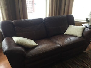 La-z-boy leather recliner, oversized chair and 2 recliners