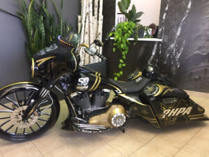 One of a kind!  Professional Hockey Player's Association Harley