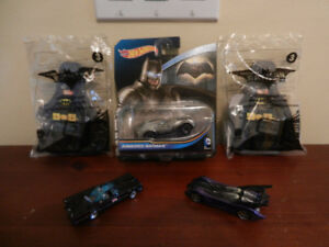 McDonalds Batman/Batgirl Lego, Hotwheels Diecast lot of 5
