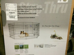 Pets play pen and crate