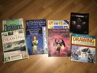 Various drawing illustration and animation books