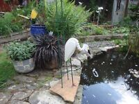 large wooden mobile garden pond ornament