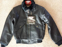 New with tags Hein Gericke Leather Bomber jacket size Medium