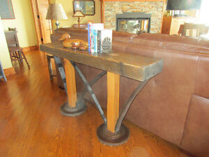 Artistic Handmade Rustic Furniture- Sofa Table and more!