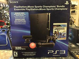 BRAND NEW IN BOX PS3 MOVE SPORT CHAMION BUNDLE w/BONUS DISCS