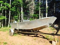 Custom built aluminum boat