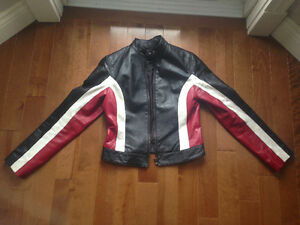 Street Racing Leather Motorcycle Jacket - Perfect Condition