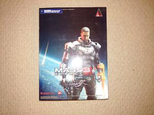 Signed Mass Effect Play Arts Shepard Figure from Mass Effect 3