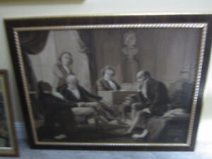 "Art Painting--Oil-On-Board ""Beethoven And Intimates""--Very Nice"
