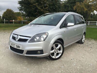 2007 Vauxhall Zafira 1.8i 16v 2007 SRi Petrol 7 Seater Manual in Silver