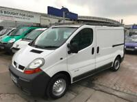 56 REG RENAULT TRAFIC VAN DIESEL DCI 100 SUPERB INSIDE AND OUT LONG MOT NO VAT!