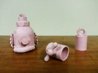 Pink slipcast porcelain tea set by local artist, Elise Nadeau