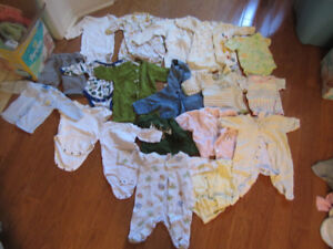 0-3M boys and girls baby clothing and bunting