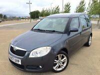 2007 SKODA ROOMSTER ++ ALLOYS ++ REMOTE LOCKING ++ GLASS ROOF ++ FEBRUARY MOT.