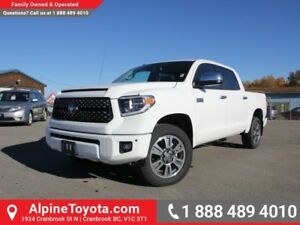 2018 Toyota Tundra Platinum  4x4 - Box Liner - Sunroof - Heated