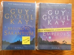 The Sarantine Mosaic 2 Signed Hardcovers by Guy Gavriel Kay