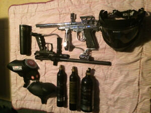 Paint ball gun package