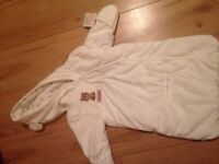 Baby snow suit. 0-3 months