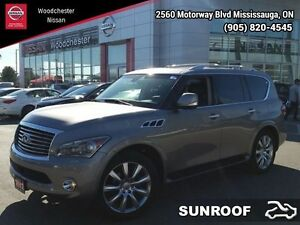 2012 Infiniti QX56 Base   - Navigation - Sunroof - Heated Seats