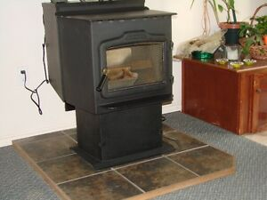Tile pellet stove/ small wood stove mat Williams Lake Cariboo Area image 1