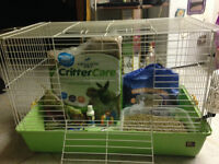 Rabbit Cage, food, and accessories, excellent starter kit