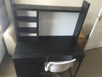 IKEA Micke Work Station/Desk and White Plastic Chair