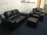 Quality leather suite (free delivery)