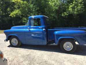 1956 Chevrolet 1/2 ton Pickup Truck Show Quality Blue Metallic