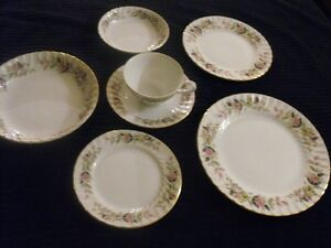 REGENCY ROSE DINNERWARE 4 -7 PCE PLACE SETTING