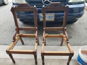 TWO VINTAGE ANTIQUE CHAIR FRAMES