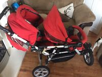 Jane powertwin double pushchair in immaculate condtion