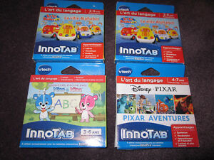 3 VTech Innotab Cartridge Games - French Version - New, in Box