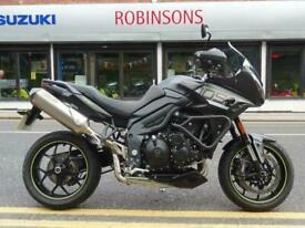 2016 Triumph Tiger 1050 sport in Black with an Arrow end exhaust.