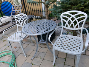 2 Chairs and Table Wrought Iron Set