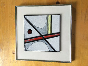 Charles Suscan hand painted tile