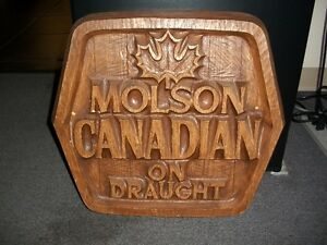 Molson Canadian on Draught Sign