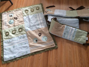 Baby Blanket and Matching Crib Bumper Pad $25