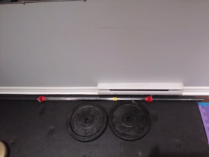 35 pound plates dumbbells with bar