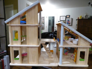 Plan Toy Wooden Chalet Doll House