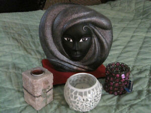 Black face vase with 3 candle holders-STRATHROY London Ontario image 3