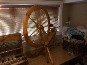 pine spinning wheel. $50