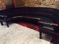 3 large curved booth seats bar club pub restaurant