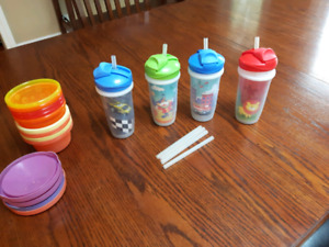 No spill straw cups