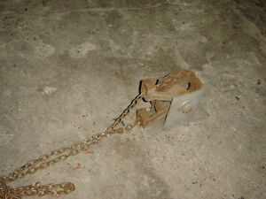 $100 · Two chain hoist pulleys with chains in good working order Regina Regina Area image 3