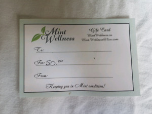 $50 Mint Wellness Gift Card for $40