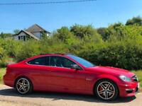 2012 [62] MERCEDES-BENZ C63 AMG 6.3 [457] MCT 7 SPEED 2DR RED COUPE