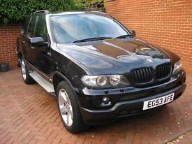 BMW X5 3.0i Auto 2004 Sport Black/Unmarked Cream Leather Nav 6 Month Guarantee