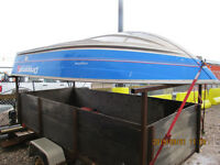 12 FT PRINCECRAFT, 20HP MERC AND UTILITY TRAILER