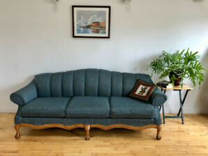 Character couch with solid wood frame